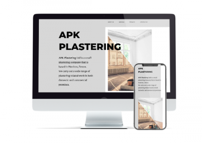 Local Plasterer – One Page Website