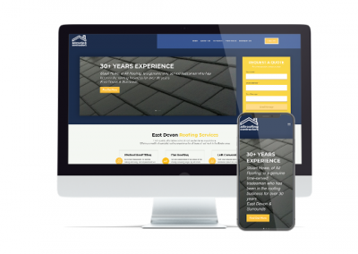 Local Roofing Business – One Page Website